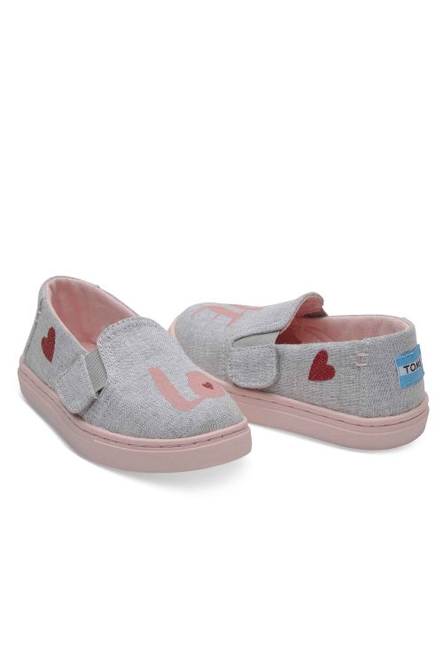 TOMS LUCA TINY DRIZZLE GREY LOVE