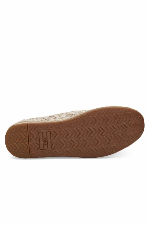 TOMS DECONSTRUCTED ALPARGATA ROPE  NATURAL LACE LEAVES