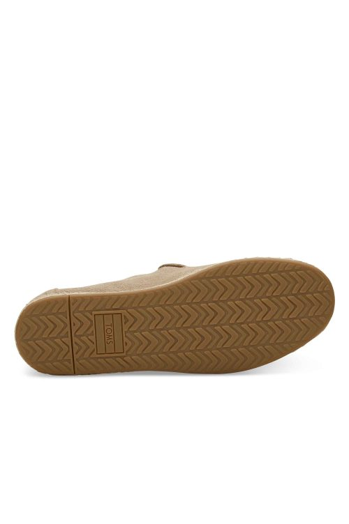 TOMS DECONSTRUCTED ALPARGATA ROPE OXFORD TAN SUEDE/TASSEL
