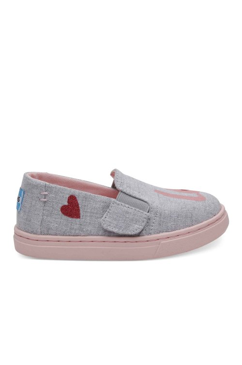 TOMS TOMS LUCA TINY DRIZZLE GREY LOVE