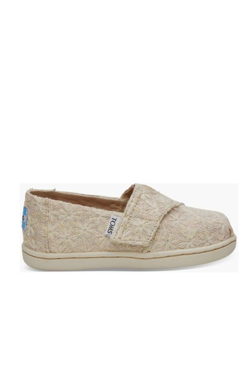 9832bc509d2 TOMS TOMS CLASSIC TINY 10011425 NATURAL DAISY METALLIC