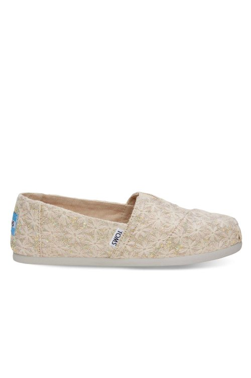 TOMS TOMS CLASSIC NATURAL DAISY METALLIC