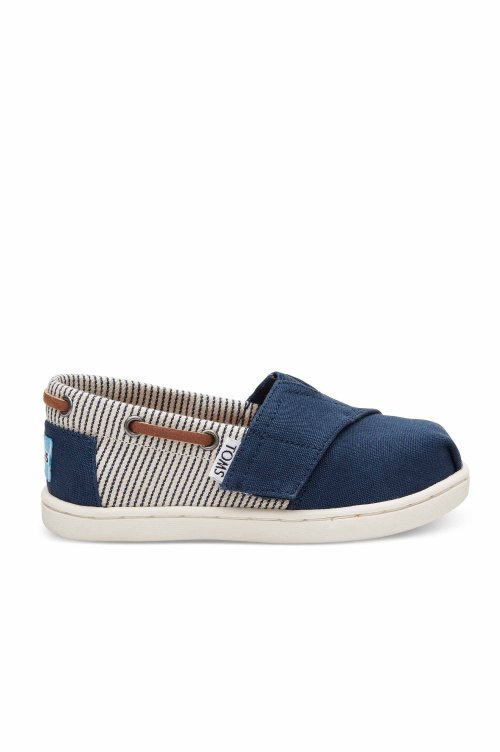 3ebf04972d4 TOMS TOMS BIMINI NAVY CANVAS STRIPES